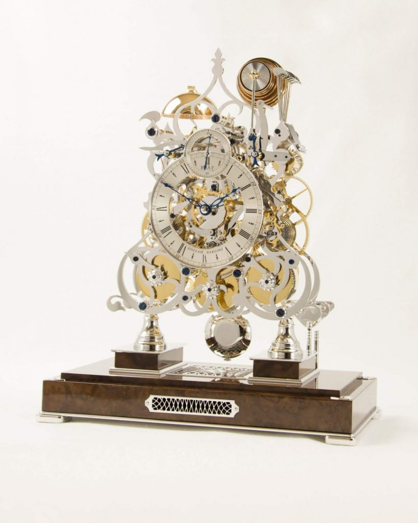 New 3 Train Skeleton Clock