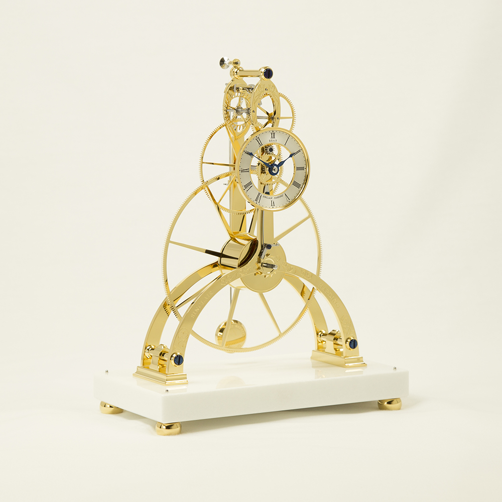 Great Wheel Skeleton Clock