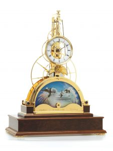 Sun and Moon Clock - Gold